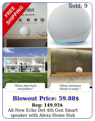 allnew echo dot th gen smart speaker with alexa home hub control glacier whit