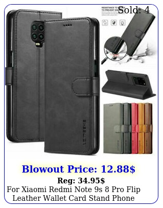 xiaomi redmi note s pro flip leather wallet card stand phone case cove
