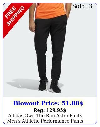 adidas own the run astro pants mens athletic performance pants black jogger