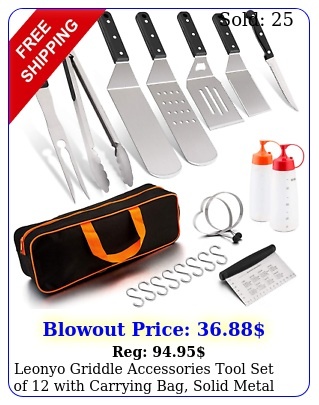 leonyo griddle accessories tool set of with carrying bag solid meta