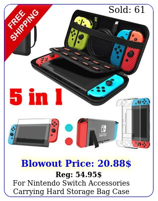 nintendo switch accessories carrying hard storage bag case glass protecto