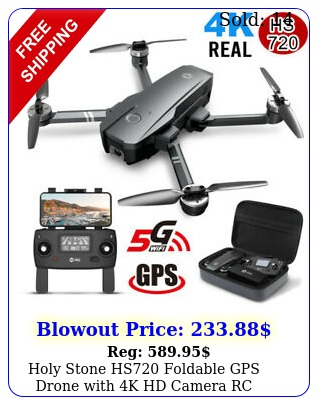 holy stone hs foldable gps drone with k hd camera rc quadcopter follow me u