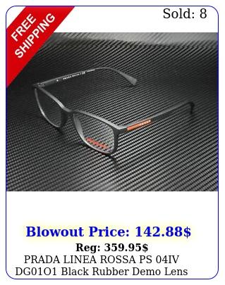 prada linea rossa ps iv dgo black rubber demo lens men's eyeglasse
