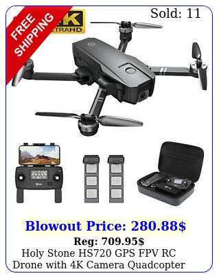 holy stone hs gps fpv rc drone with k camera quadcopter brushless batter