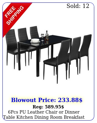 pcs pu leather chair or dinner table kitchen dining room breakfast furniture u