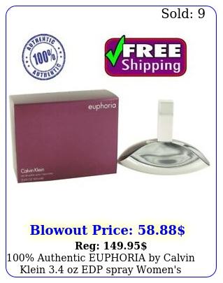 authentic euphoria by calvin klein oz edp spray women's perfume ni