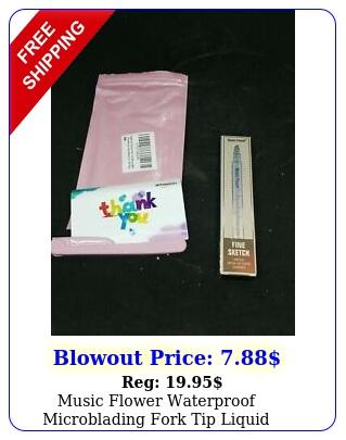 music flower waterproof microblading fork tip liquid eyebrow pen chestnu