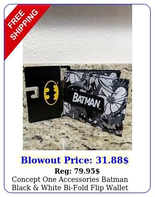 concept one accessories batman black white bifold flip wallet ne