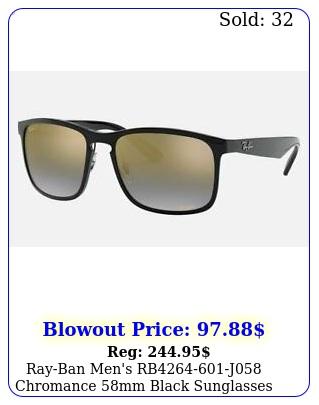 rayban men's rbj chromance mm black sunglasse