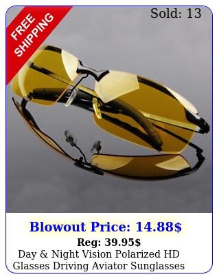 day night vision polarized hd glasses driving aviator sunglasses uv eyewea