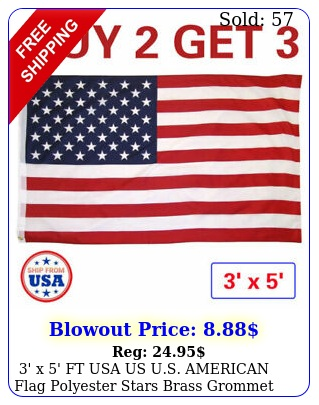 ' x ' ft usa us us american flag polyester stars brass grommet buy ge