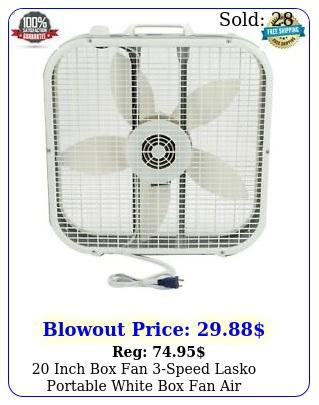 inch fan speed lasko portable white fan air circulation u