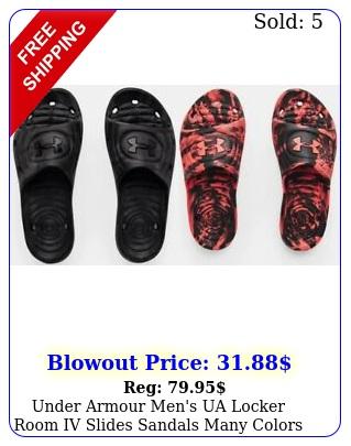 under armour men's ua locker room iv slides sandals many colors size