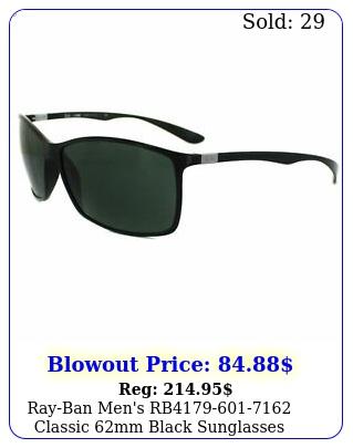 rayban men's rb classic mm black sunglasse