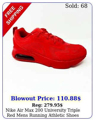 nike air max university triple red mens running athletic shoes c