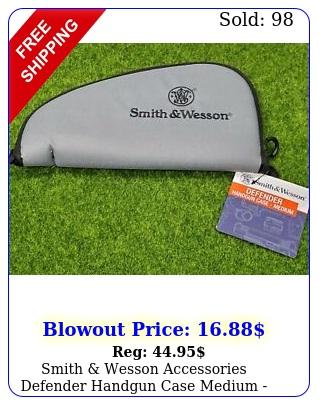 smith wesson accessories defender handgun case medium blackgray