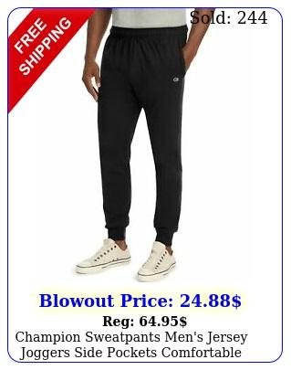 champion sweatpants men's jersey joggers side pockets comfortable athletic fi