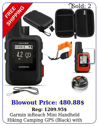 garmin inreach mini handheld hiking camping gps black with accessories bundl