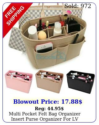 multi pocket felt bag organizer insert purse organizer lv neverfull color