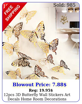 pcs d butterfly wall stickers art decals home room decorations decor u