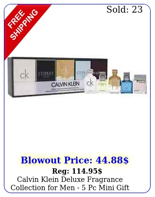 calvin klein deluxe fragrance collection men  pc mini gift se