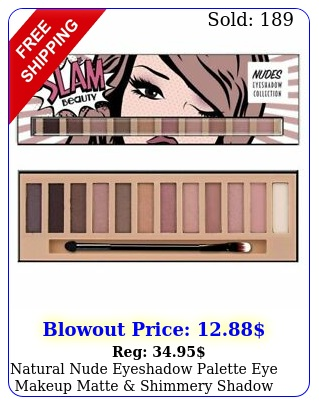 natural nude eyeshadow palette eye makeup matte shimmery shadow hues shade