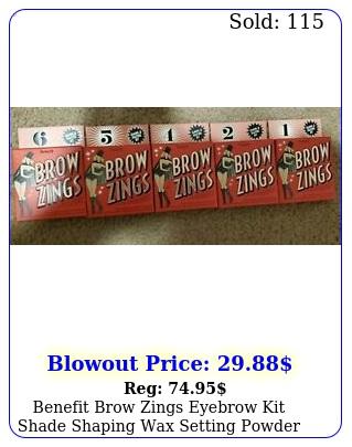 benefit brow zings eyebrow kit shade shaping wax setting powder pick choos