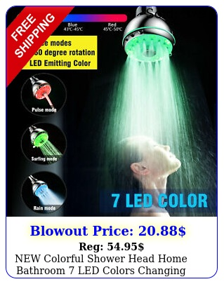 colorful shower head home bathroom led colors changing water glow ligh