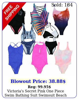 victoria's secret pink one piece swim bathing suit swimsuit beach pool v