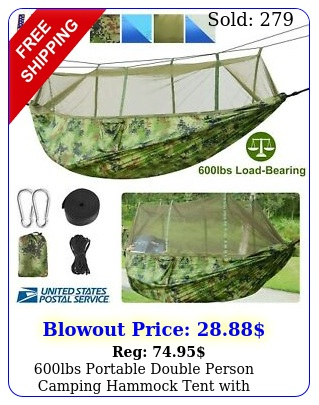 lbs portable double person camping hammock tent with mosquito net hanging be