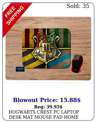 hogwarts crest pc laptop desk mat mouse pad home school office gift harry potte