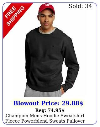 champion mens hoodie sweatshirt fleece powerblend sweats pullover front pouc