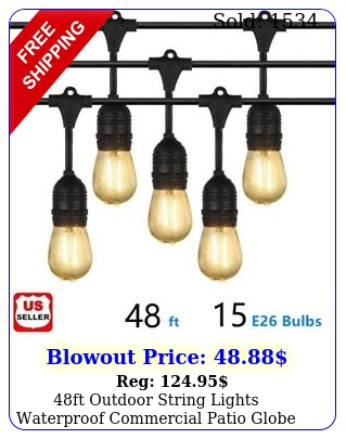 ft outdoor string lights waterproof commercial patio globe fairy light bulb