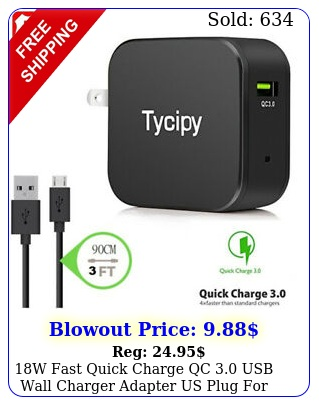 w fast quick charge qc usb wall charger adapter us plug iphonesamsun