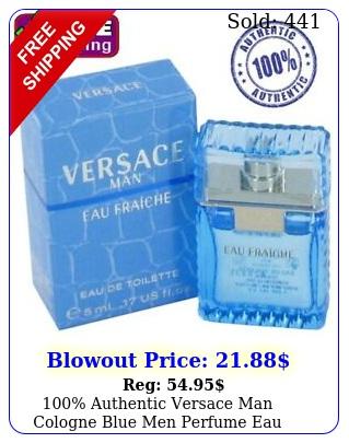 authentic versace man cologne blue men perfume eau fraiche edt oz m