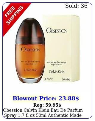 obession calvin klein eau de parfum spray fl oz ml authentic made in us
