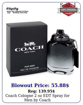 coach cologne oz edt spray men by coac