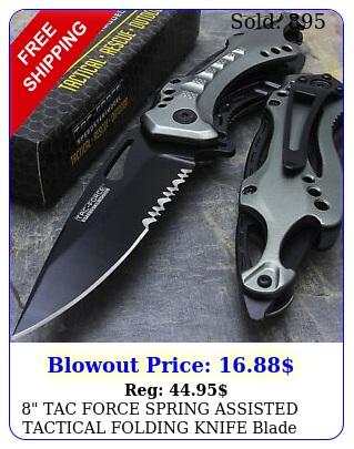 tac force spring assisted tactical folding knife blade pocket open la