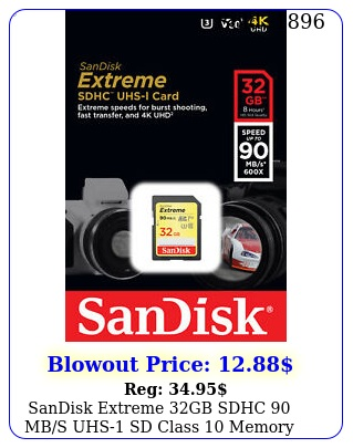sandisk extreme gb sdhc mbs uhs sd class memory card sdsdxveg