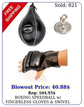 boxing speedball w fingerless gloves swivel mma punching bag speed ball se