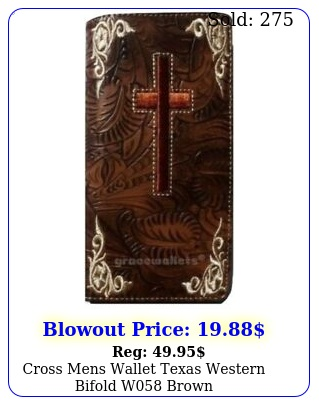 cross mens wallet texas western bifold w brow