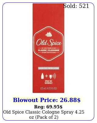 old spice classic cologne spray oz pack o