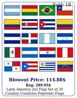 latin america x flag set of country countries polyester flags grommet