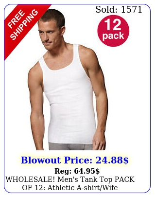 wholesale men's tank top pack of athletic ashirtwife beater cotto