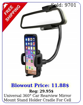 universal car rearview mirror mount stand holder cradle cell phone gp
