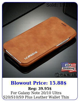 galaxy note ultra sss plus leather wallet thin slim case cove
