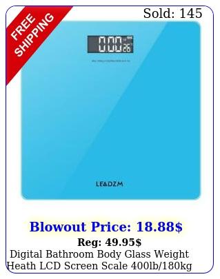 digital bathroom body glass weight heath lcd screen scale lbkg blu