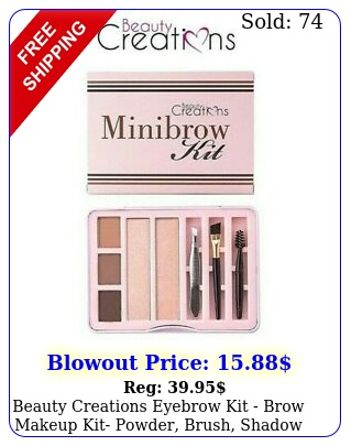 beauty creations eyebrow kit brow makeup kit powder brush shadow ne