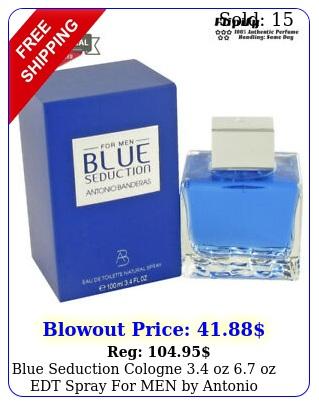 blue seduction cologne oz oz edt spray men by antonio banderas m