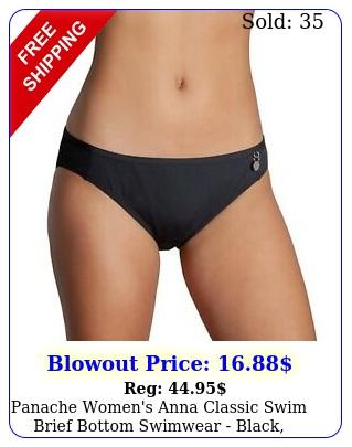 panache women's anna classic swim brief bottom swimwear black mediu
